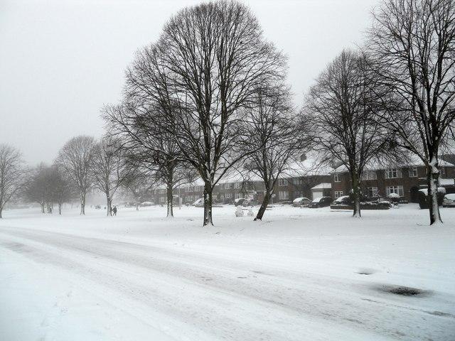 Shakespeare Gardens Snow Scene