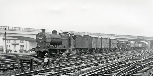 Down freight entering Bletchley