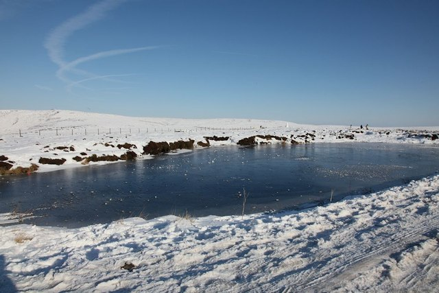 Small lake by the side of the A57 Snake Pass