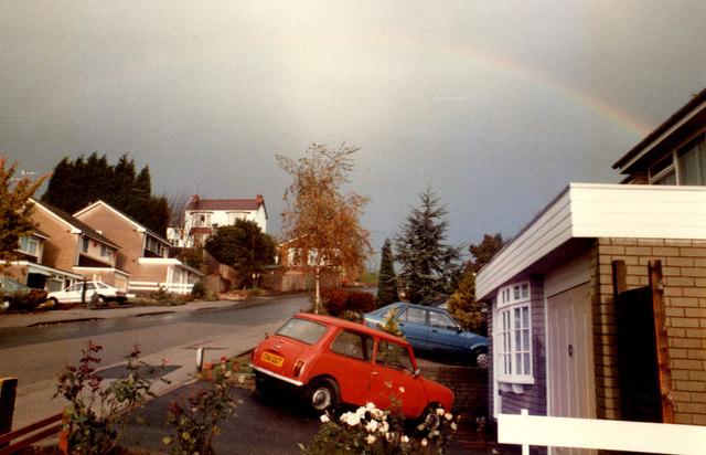 Halesowen, Rainbow Over Pershore Road October 1985