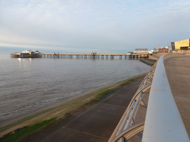Blackpool: North Pier at high tide