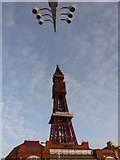 SD3036 : Blackpool: the Tower and some lamps by Chris Downer