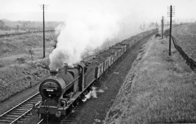 Down coal train on North Midland line south of Beighton Junction