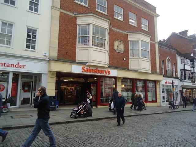 Sainsbury's supermarket, High Street, Guildford