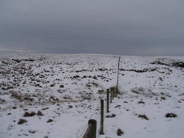 Lonely fence on Dun Hill