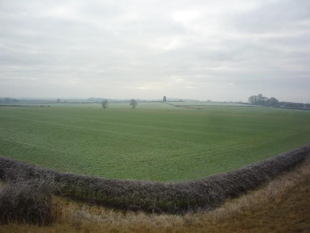 Farmland near the railway