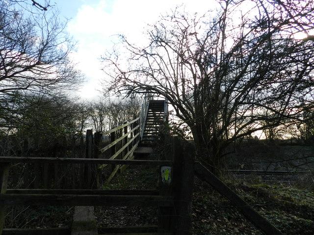 Footbridge over railway line