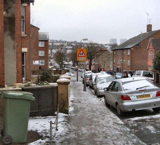 Hartington Road after snow