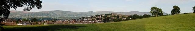 Denbigh Castle and the Clwydian Hills