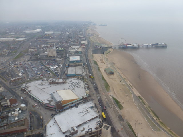 Blackpool: looking down on Coral Island