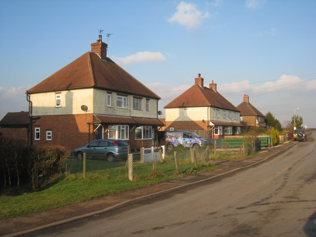 Former council houses at Plungar
