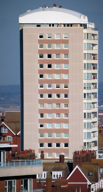 Tower block on Bolsover Road