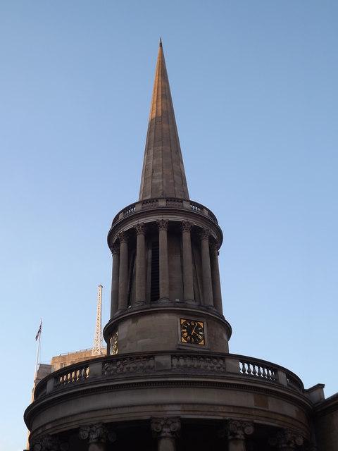 All Souls' Church Spire