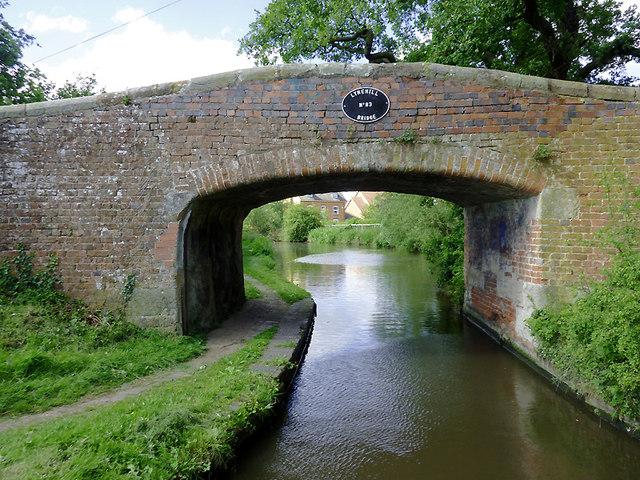 Lynehill Bridge south of Penkridge, Staffordshire