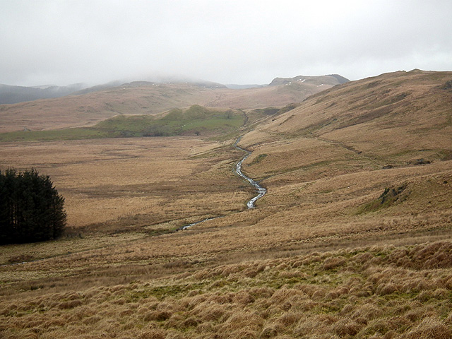 The track to Bwlchystyllen ...