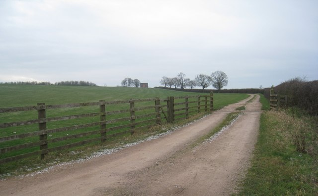 The track to Clawson Hill Farm