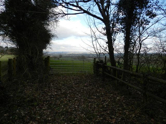 Farmland east of Piper's Hill