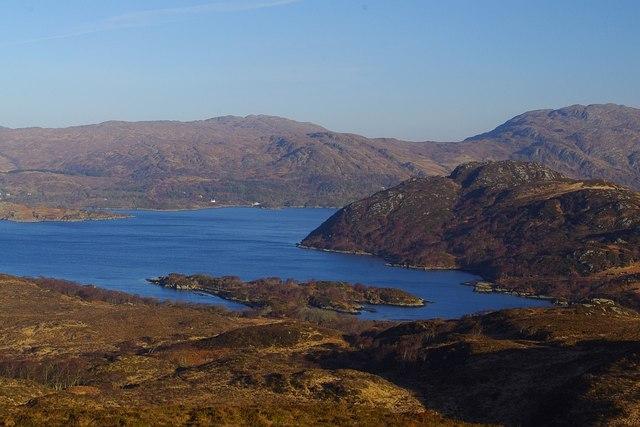 View NNE across NM6057 towards Eilean nan Eildean