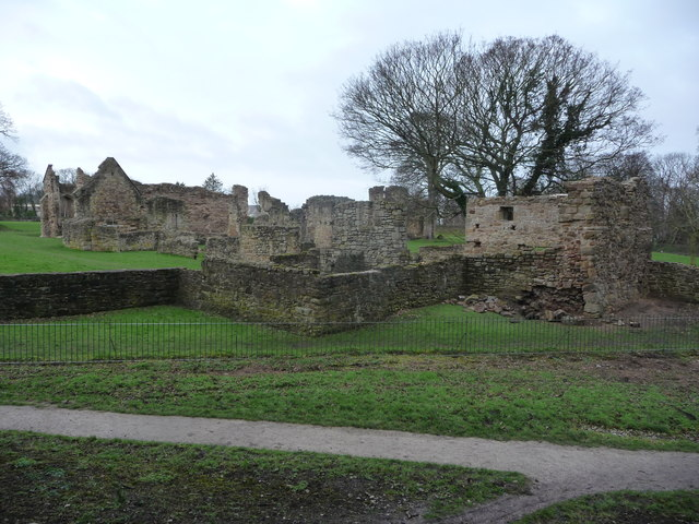 Part of the ruins of Basingwerk Abbey