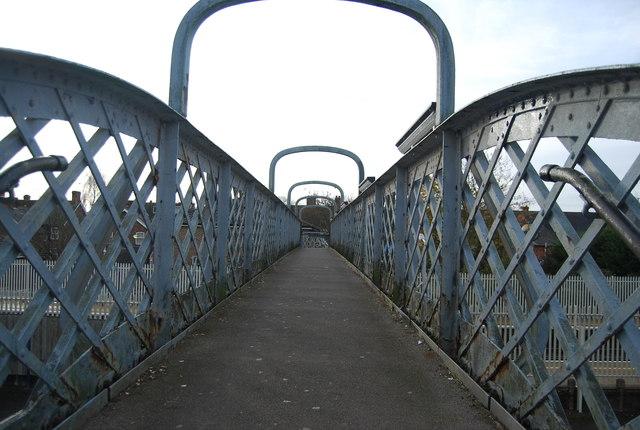 Footbridge over the railway line