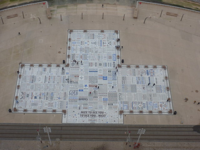Blackpool: the Comedy Carpet from above