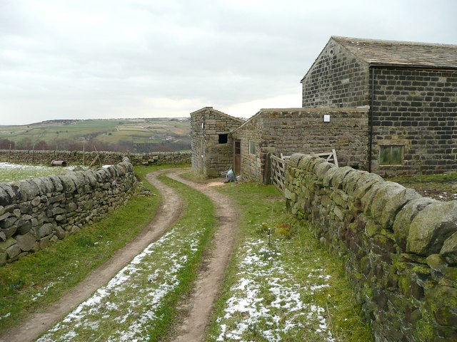 Access track to Crumber Hill, Cragg Vale