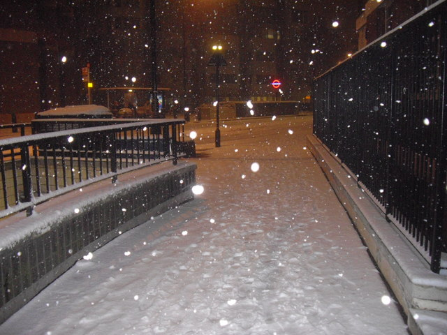 Snowing in Bessborough Street,  Pimlico