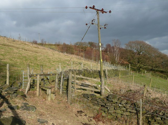 Stile on footpath to Sandy Pickle, Cragg Vale