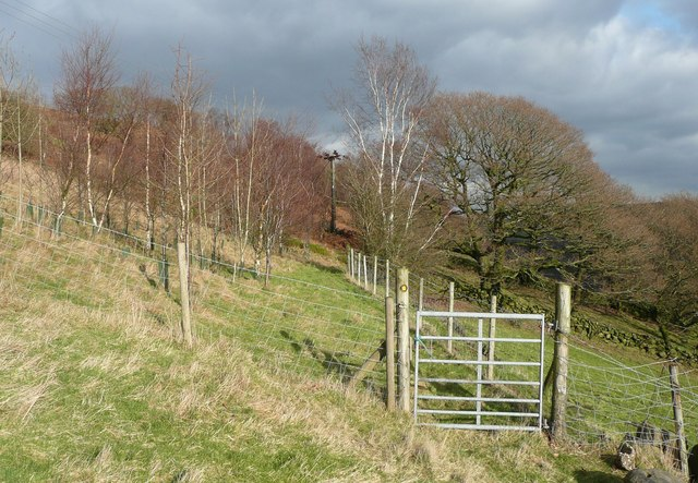Gate on footpath to Sandy Pickle
