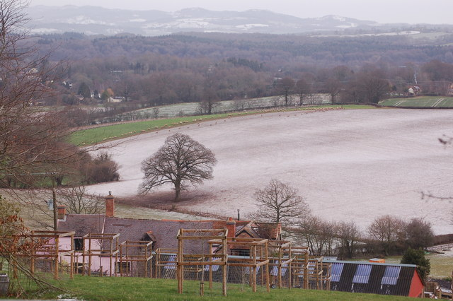 Pithouse Farm on a wintry February day