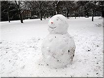 TQ3877 : Smiling snowman by Stephen Craven