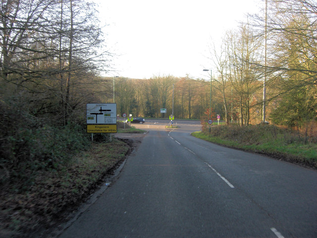 B3051 junction with the A339
