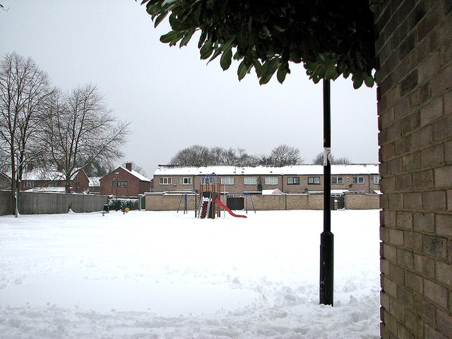 Neville Road Rec in the snow