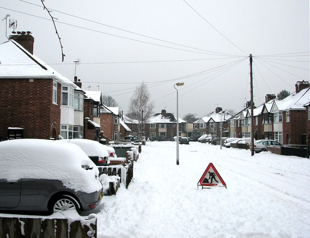Snow in the suburbs: Lichfield Road