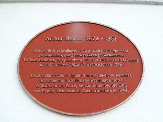 Arthur Hewitt 1876 - 1951, Llandudno