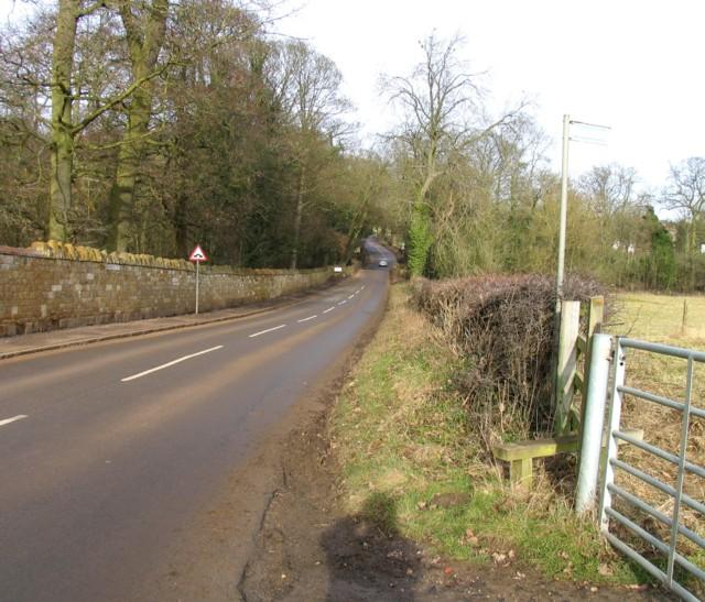 Desborough Road towards Rushton