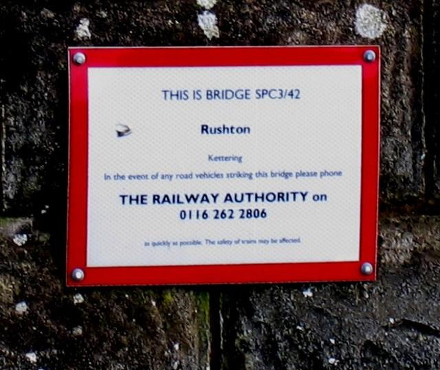 The Rail Authority sign on bridge