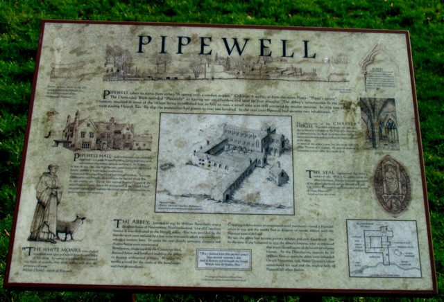 Pipewell information board