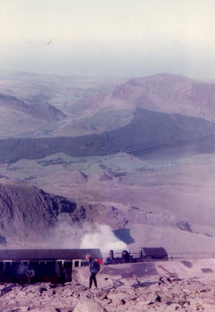 Snowdon Mountain Railway at Summit 1982