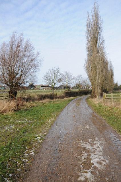 Farm road at Church End