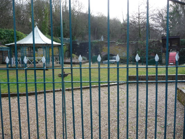 Bandstand and park within Greenfield Valley Heritage Park