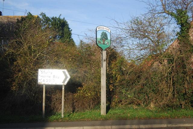 Broad Oak Village Sign