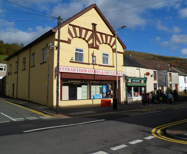 Corner shop and post office, Ystrad