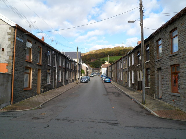 Cross Street Ystrad viewed from the south