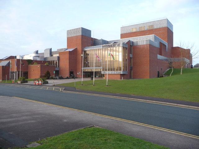 Clwyd Theatr Cymru building in Mold