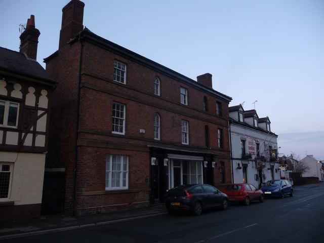 Part of Bangor-on-Dee high street