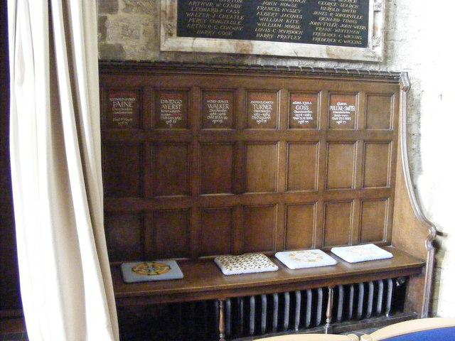 Church Wardens Bench