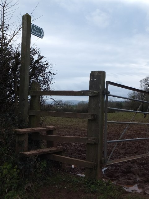 Footpath to Ideford from Rixafer Road