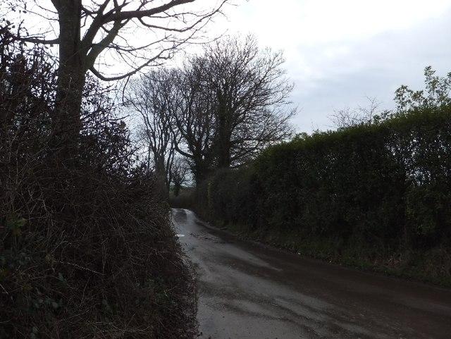 Minor road south of Luton Cross