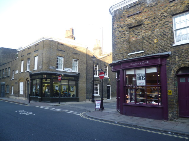 The junction of Cornwall Road with Roupell Street, Waterloo